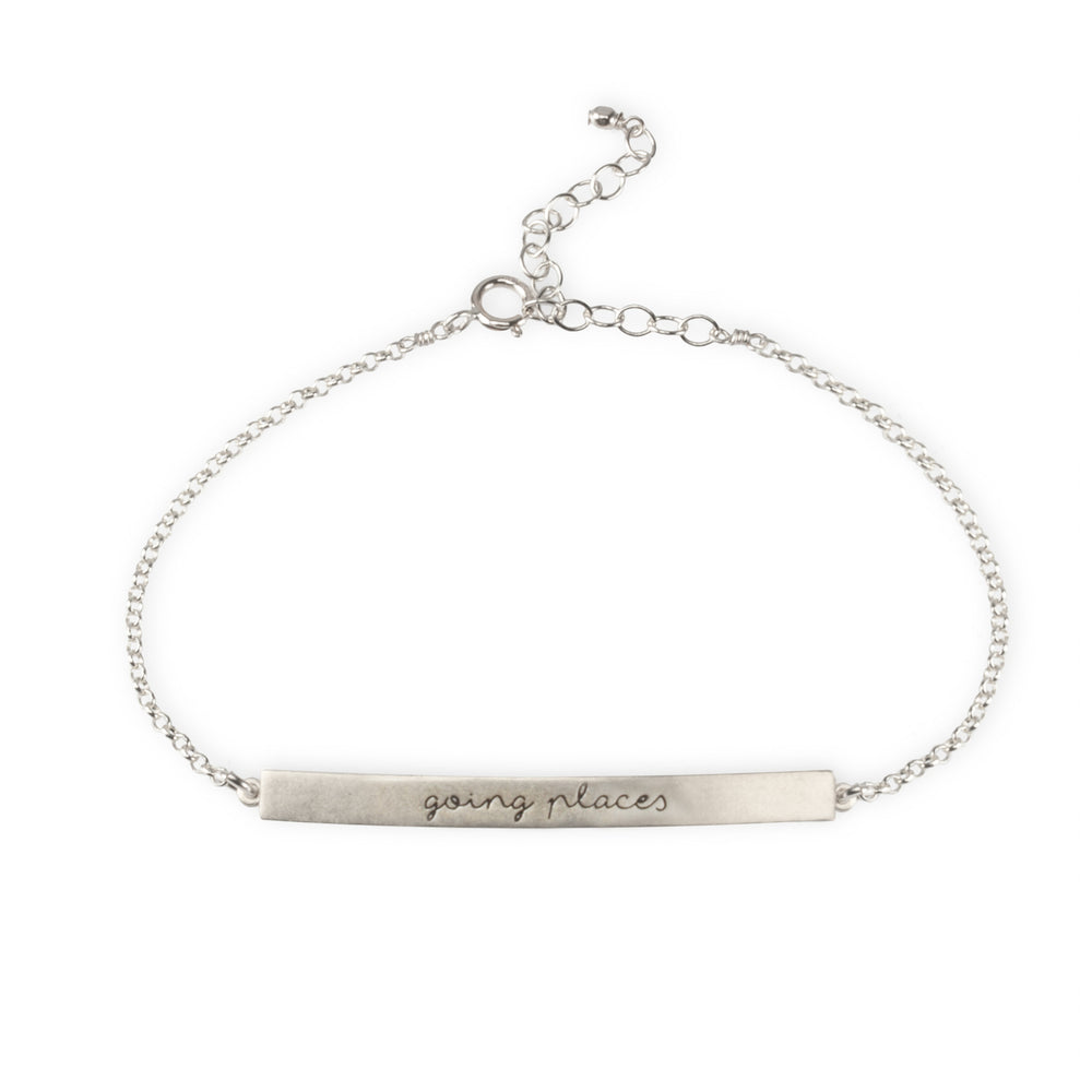 "Pulsera placa ""going places"""