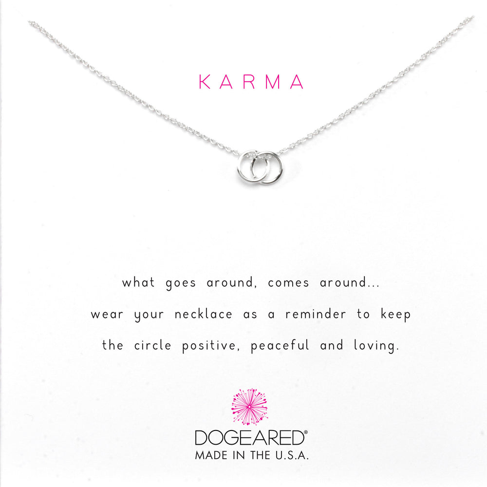 Collar karma doble anillo