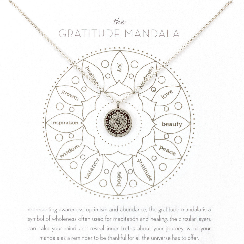 "Collar mini mandala ""gratitude"""
