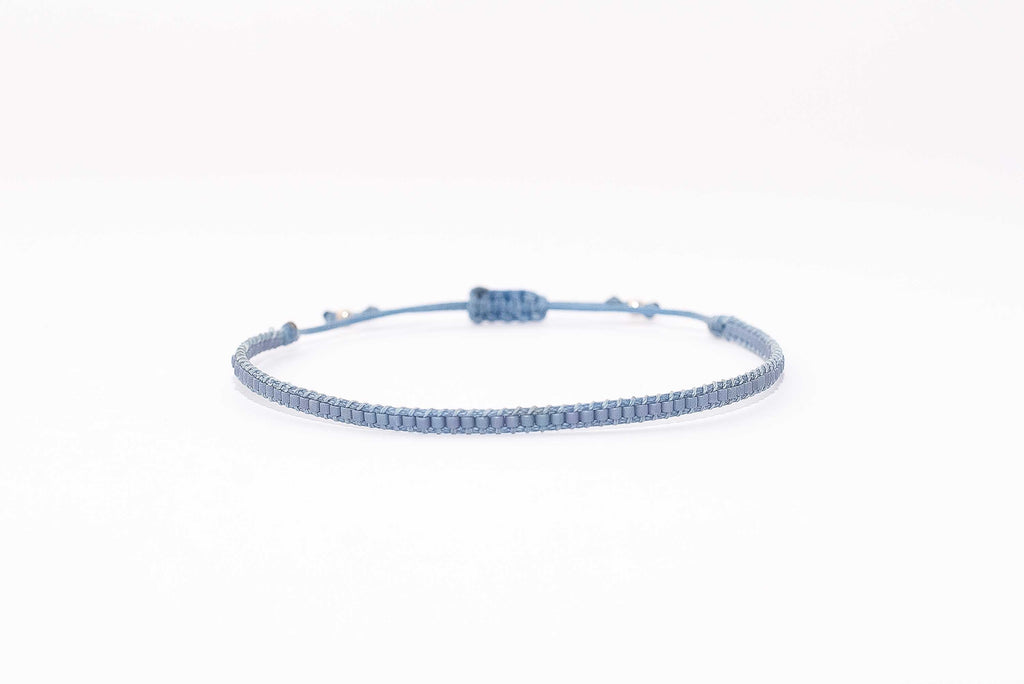 Pulsera Mostacillas Simple Celeste