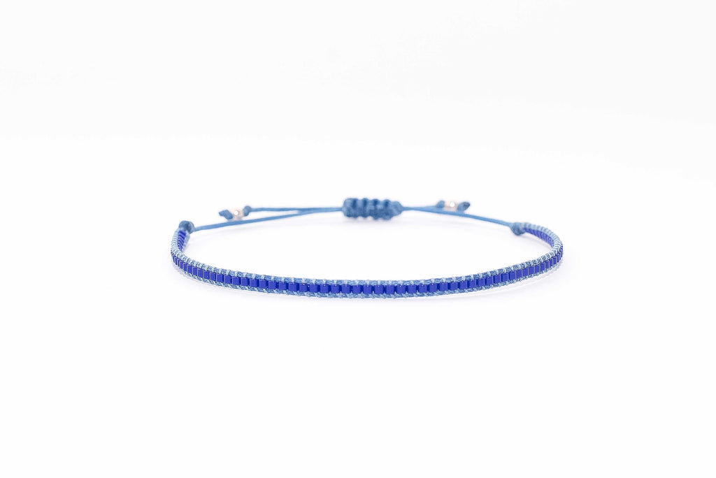 Pulsera Mostacillas Simple Azul