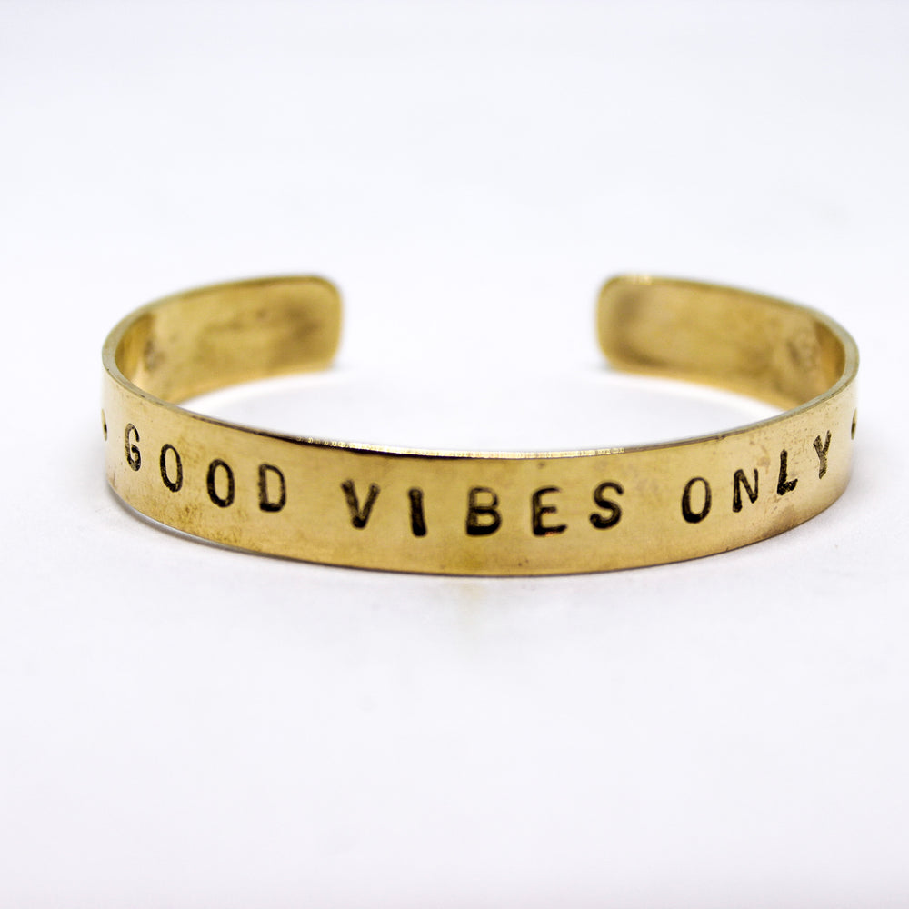 Pulsera bronce Good Vibes Only