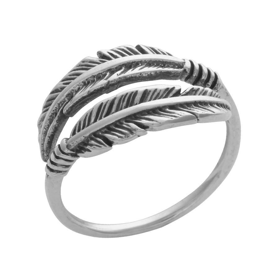 "Anillo ""double feather"""