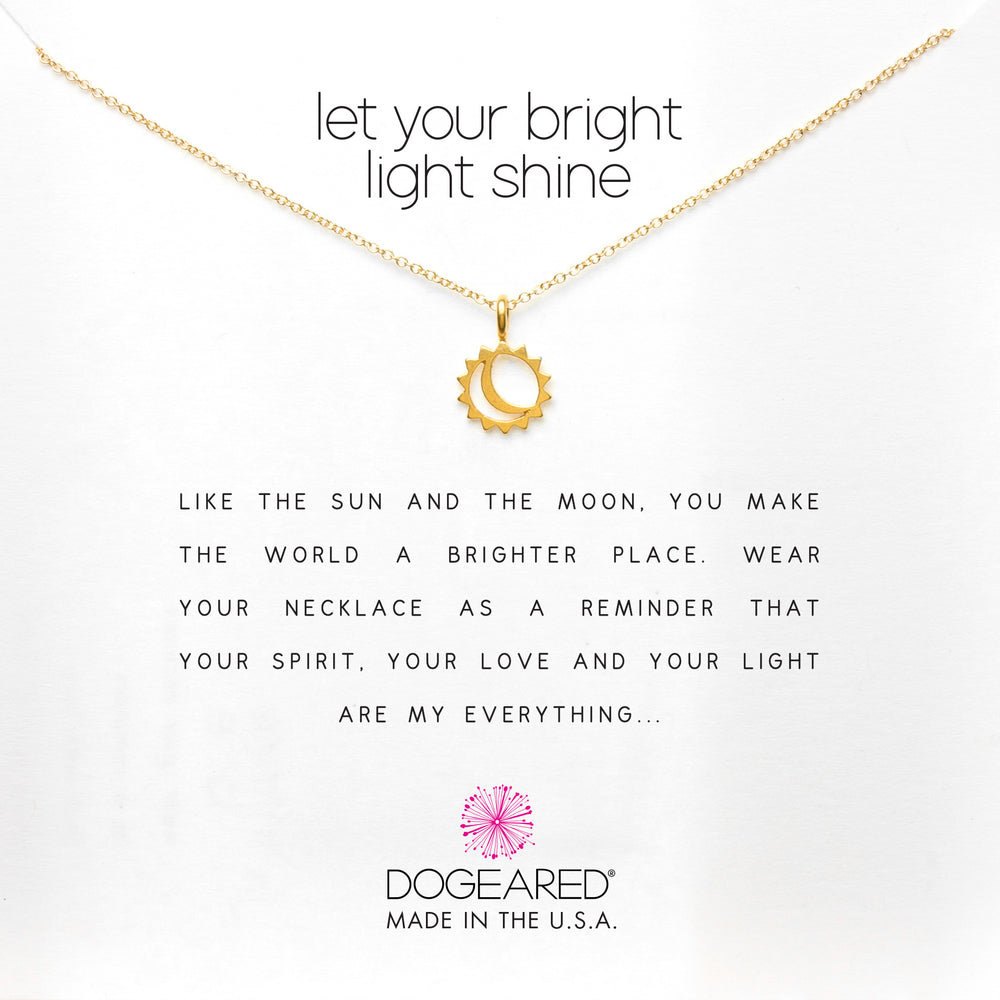 "Collar ""let your bright light shine"""