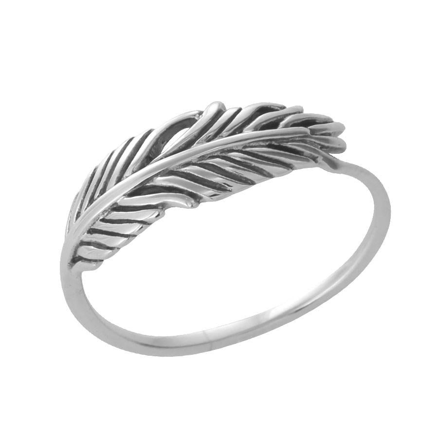 Anillo Dainty Feather Ring