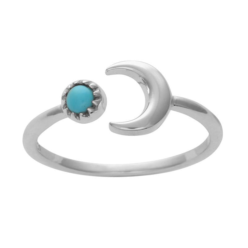 "Anillo ""Crescent moon stone"""