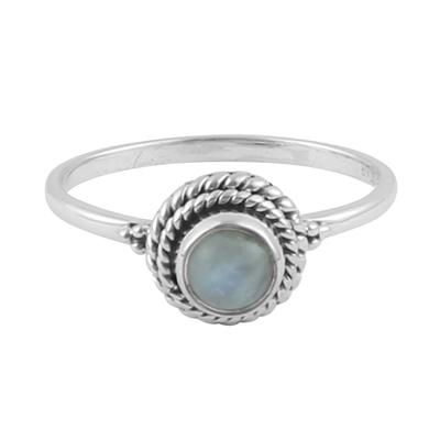 "Anillo ""Moonstone Twist"" - Zazü"
