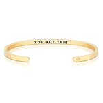Pulsera You Got This Acero Bañado en Oro