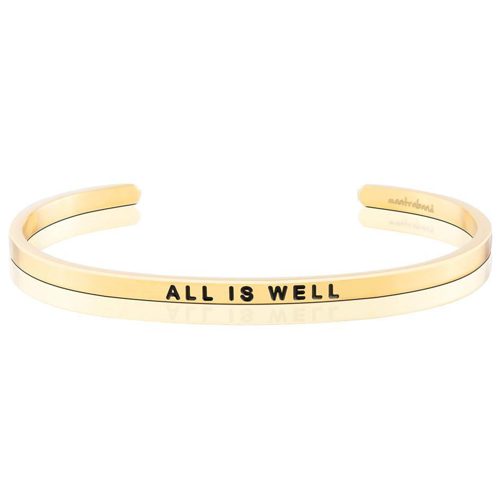 Pulsera All is Well Acero Bañado en Oro