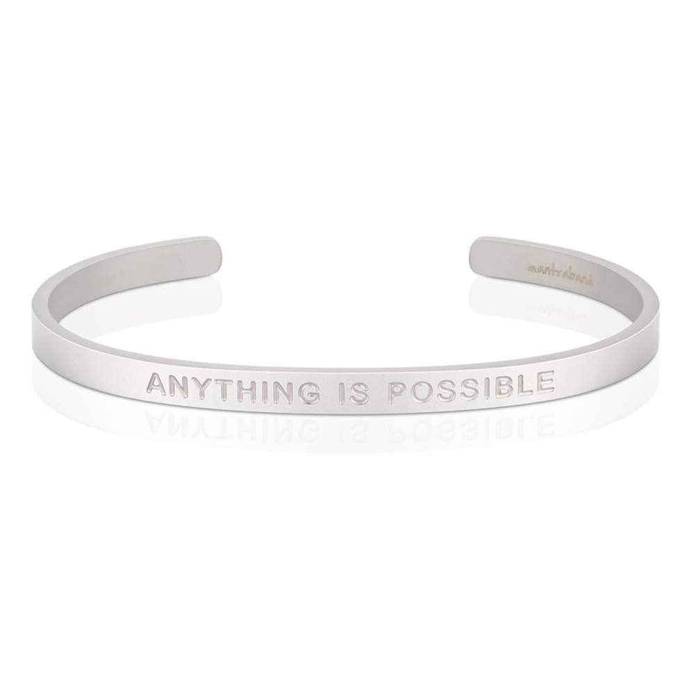 Pulsera Anything Is Possible Acero Mate