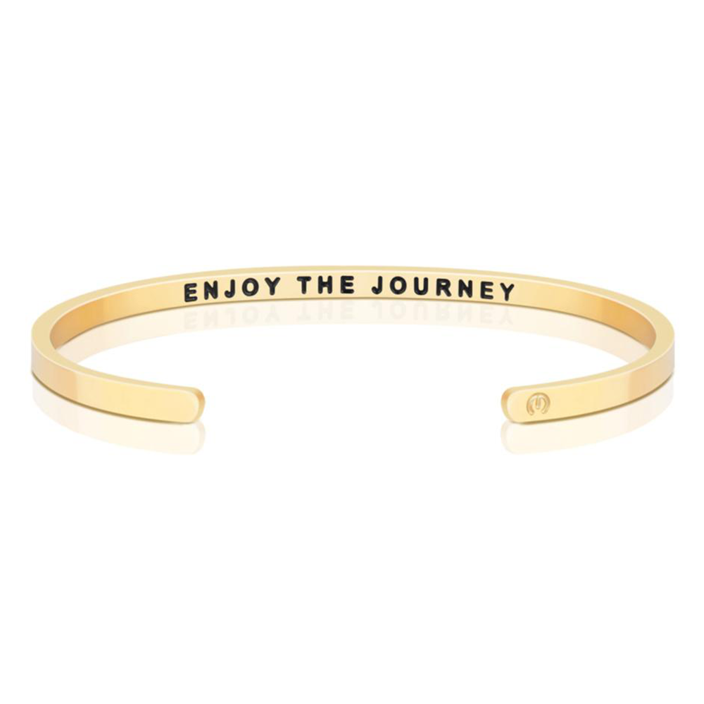 Pulsera Enjoy The Journey Acero Bañado en Oro