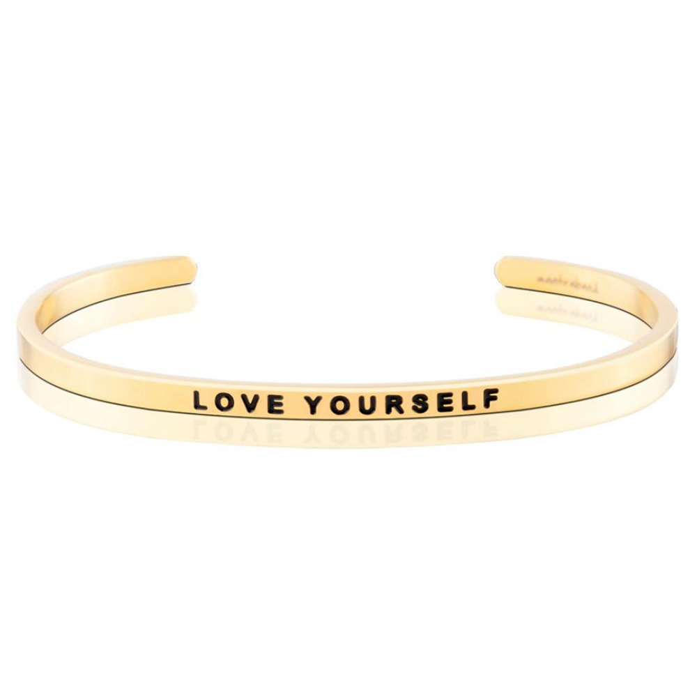 Pulsera Love Yourself Acero Bañado en Oro