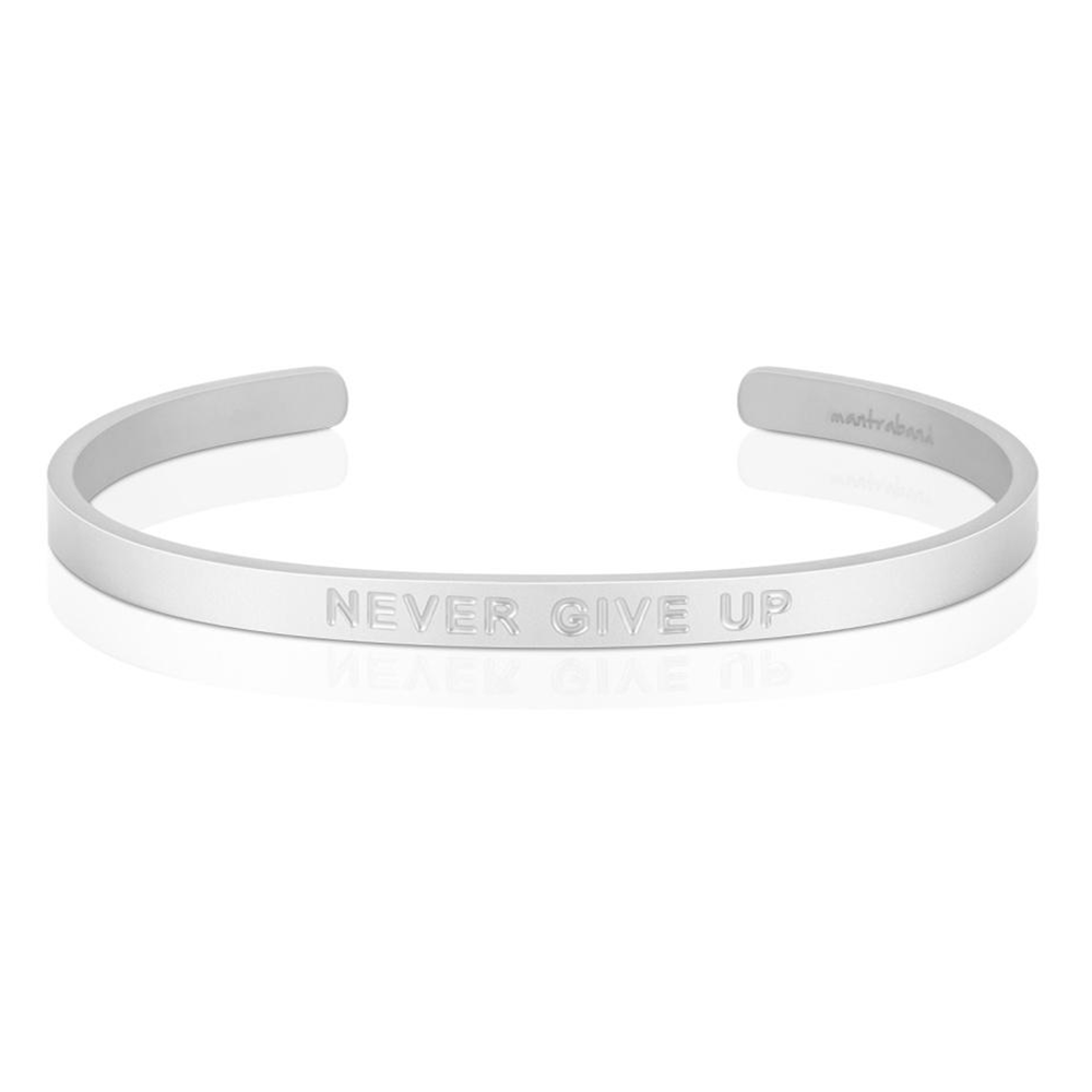 Pulsera Never Give Up Acero Mate