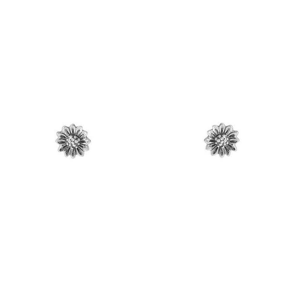 Aros Tiny Sunflower de Plata