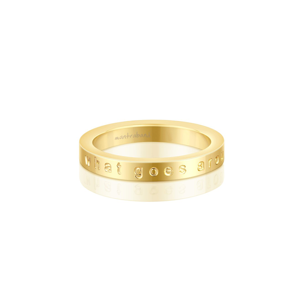 Anillo What Goes Around, Comes Around Acero Bañado en Oro