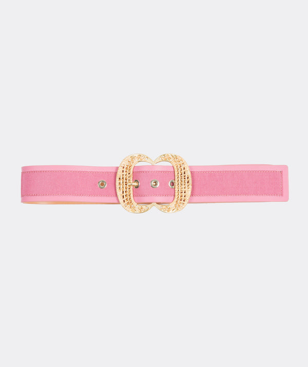 Rattan Double Buckle Belt
