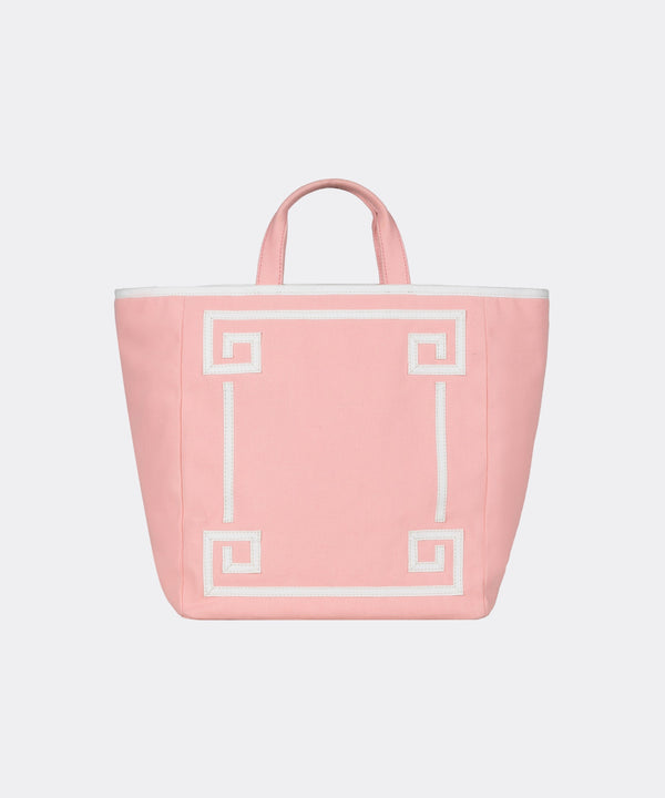 Greek Key Canvas Tote - Exclusive