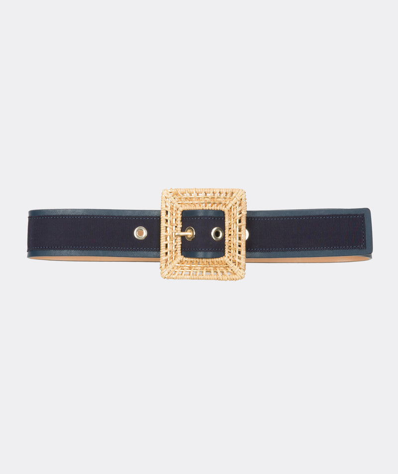 Rattan Square Buckle Belt