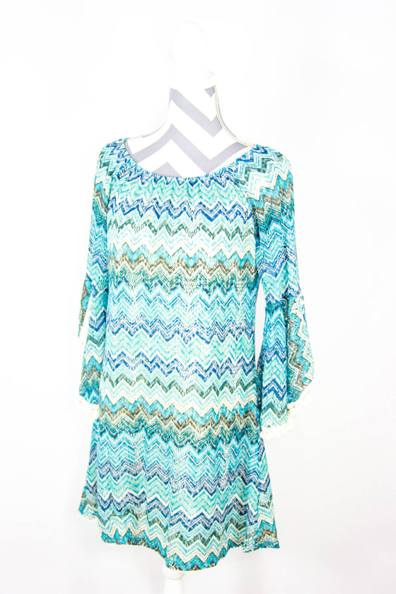 2B Together Size Large Overlay Knit Dress