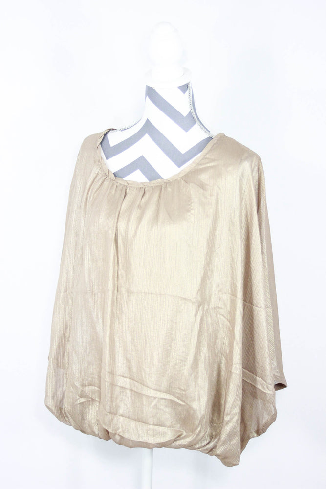 Ana Size Large Gold Bubble Top