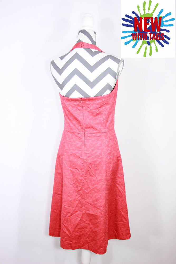 Ann Taylor Size 6 Halter Coral Dress
