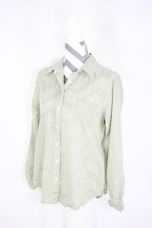 Ann Taylor Size Medium Pattern Dress Shirt