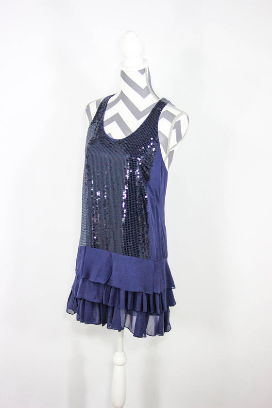 BCBG Maxazria Size XS Sequin Tank Dress