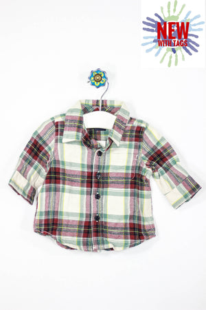 Baby Gap Size 0-3M Long Sleeve Flannel