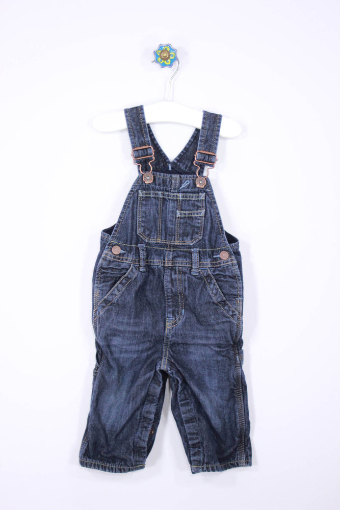 Baby Gap Size 6-12M Lined Denim Overalls - Josie's Friends, LLC