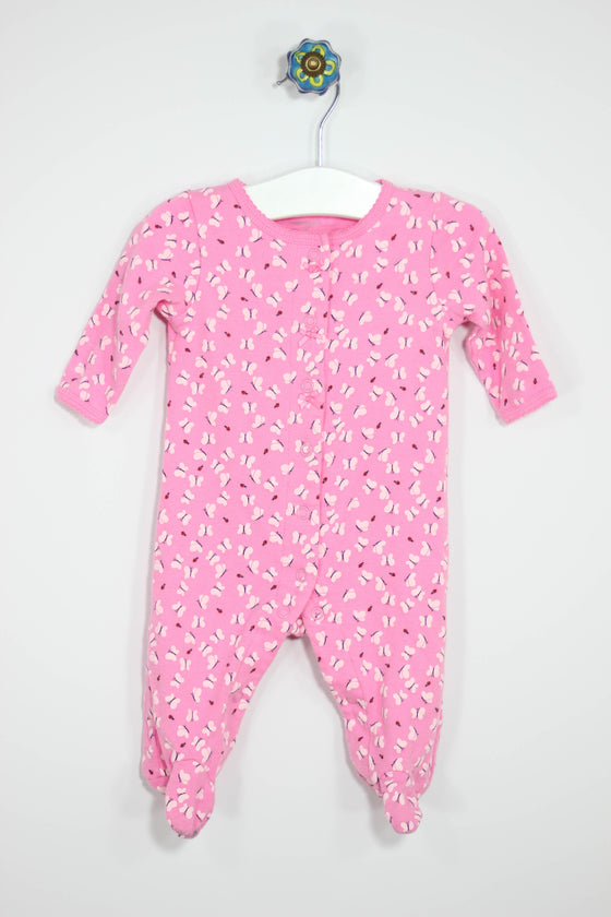 Carter's Size 3M Butterfly Footed Pajamas - Josie's Friends, LLC