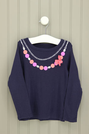 Carter's Size 3T Long Sleeve Necklace Tee