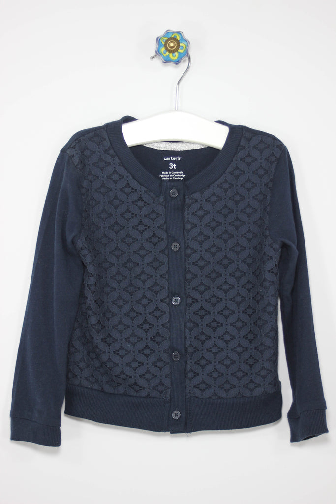 Carter's Size 3T Overlay Navy Cardigan - Josie's Friends, LLC