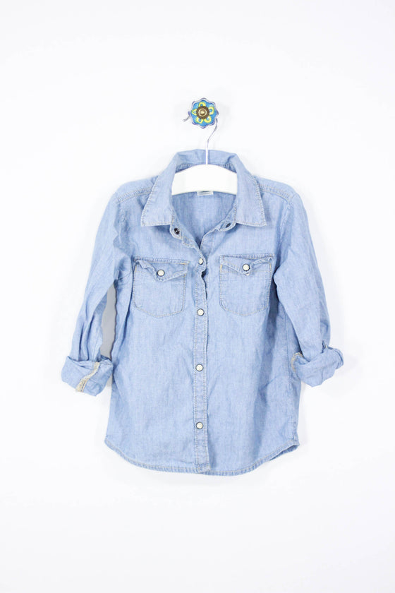 Carter's Size 5T Long Sleeve Denim Shirt