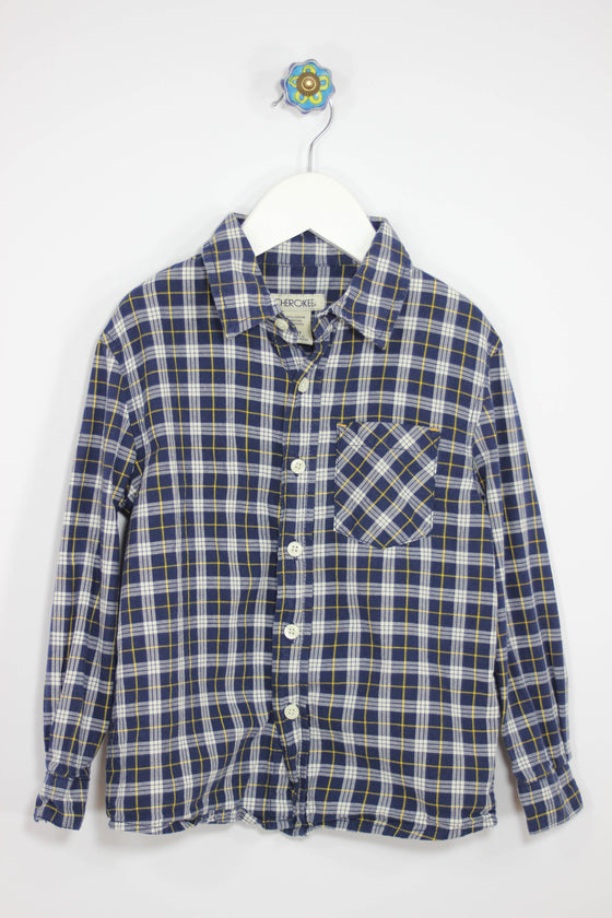 Cherokee Size 4/5 Long Sleeve Check Shirt - Josie's Friends, LLC