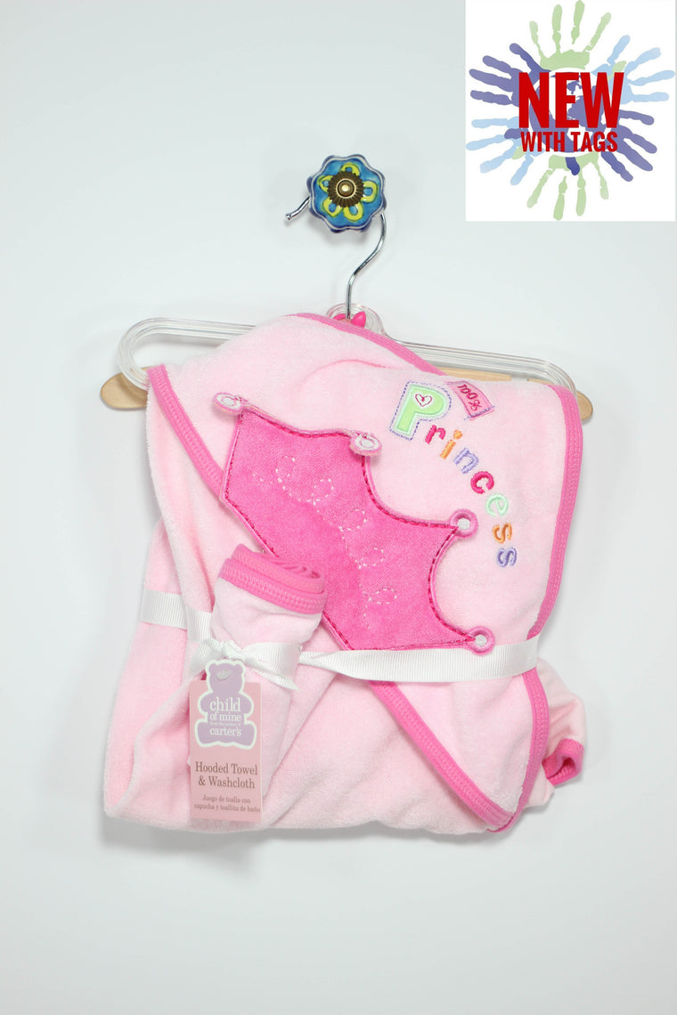 Child of Mine Princess Hooded Towel & Washcloth
