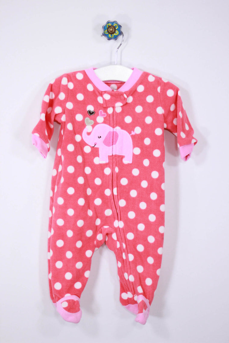 Child of Mine Size 0-3M Fleece Footed Pajamas
