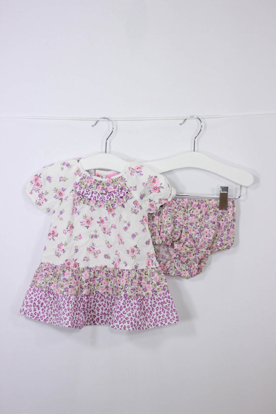 Children's Place Size 0-3M Floral Dress + Bloomers - Josie's Friends, LLC