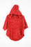 Chillipop Size 4 Red Hooded Poncho