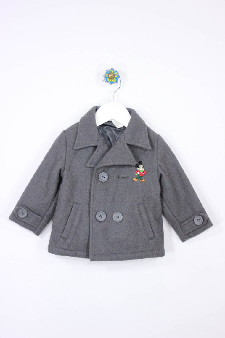 Disney Size 12-18M Mickey Mouse Wool Coat