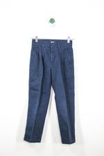 Docker's Size 8 Pleated Navy Pants