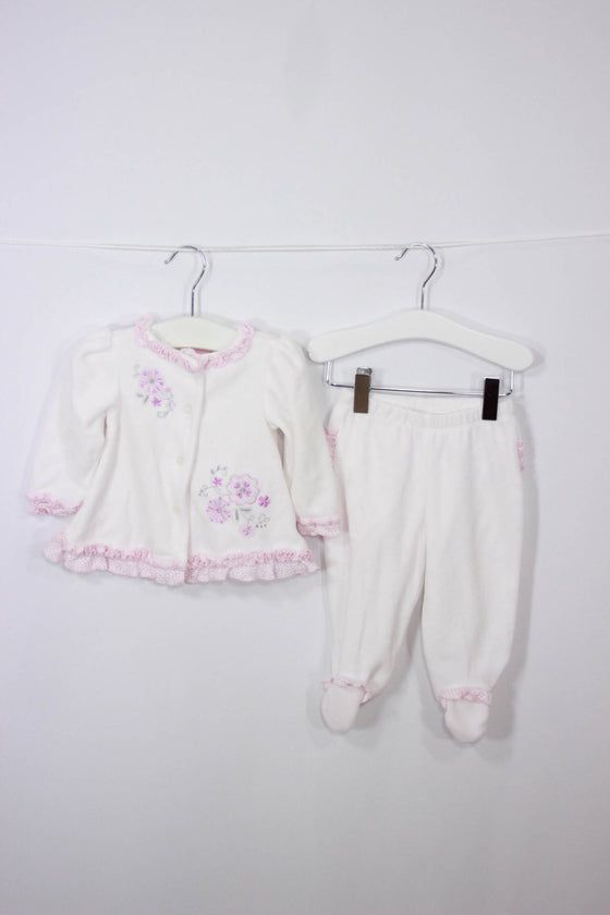 Dylan & Abby Size 3-6M Velour Outfit - Josie's Friends, LLC