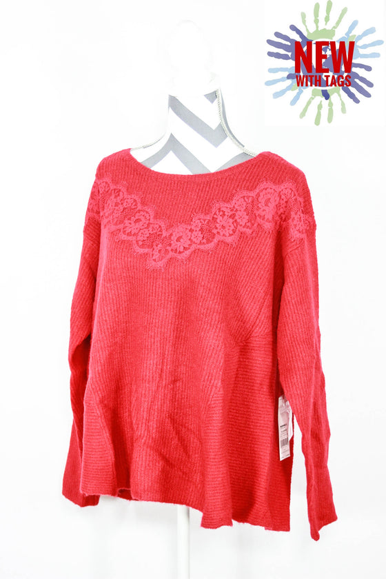 Elle Size XL Lace Yoke Sweaters