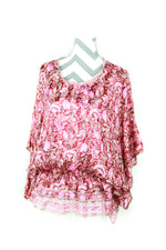 Flowy Silk Blouse Size Medium