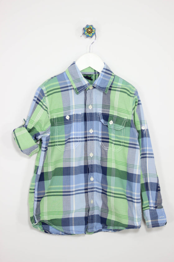 GAP Kids Size 6/7 Convertible Plaid Shirt - Josie's Friends, LLC