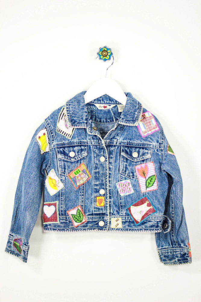 GAP Size XS Patchwork Fashion Denim Jacket