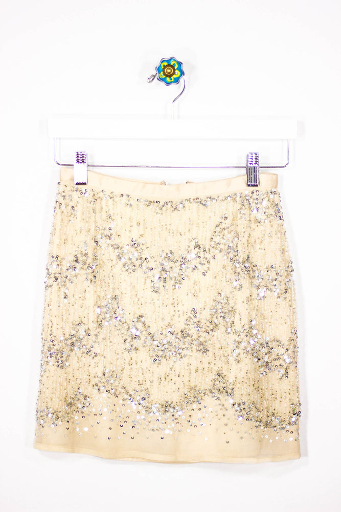 H&M Size XS Sequin Beaded Skirt