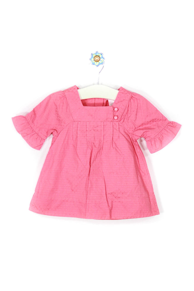 Janie and Jack Size 3-6M Soft Coral Dress