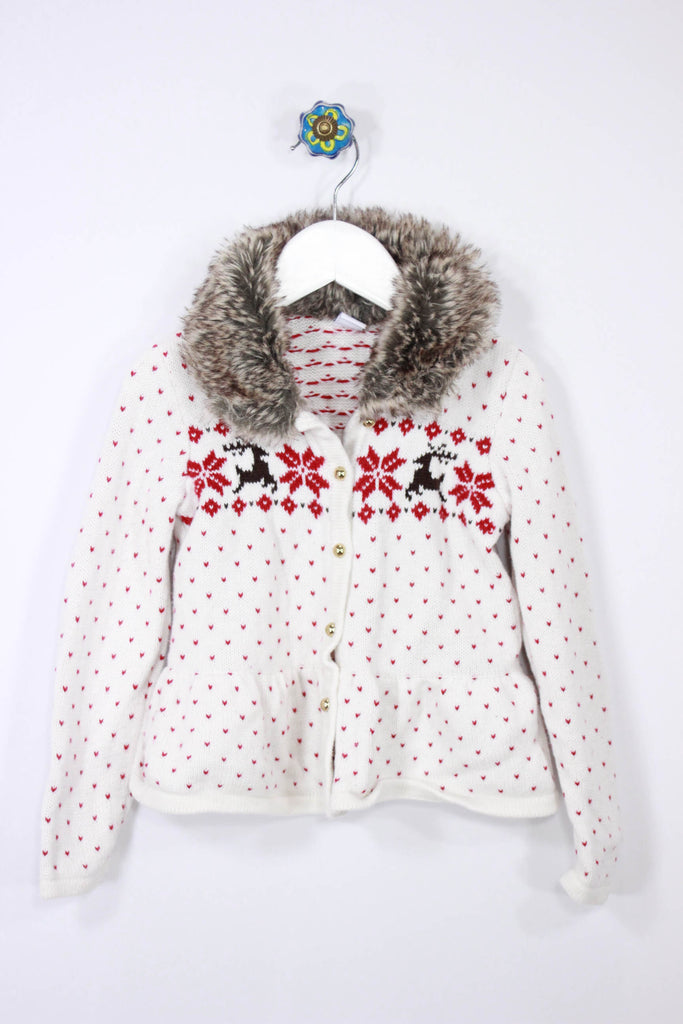 Janie and Jack Size 4 Reindeer Cardigan - Josie's Friends, LLC