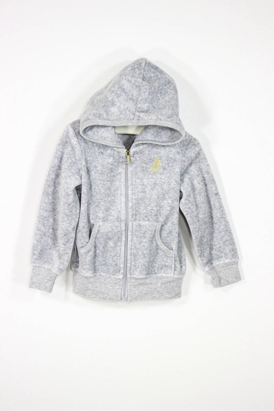Juicy Couture Size 2T Velour Zip Up Hoodie