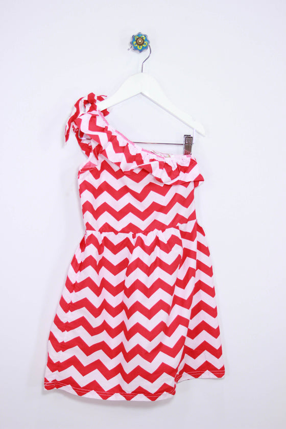 Just Couture Size Large Chevron One Shoulder Dress - Josie's Friends, LLC